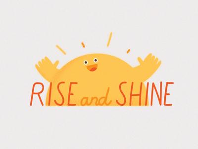 hiiiiiiii type hello snapchat morning creep sun shine rise illustration