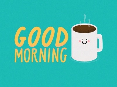 mornings ♨ type crazy coffee morning snapchat filter illustration