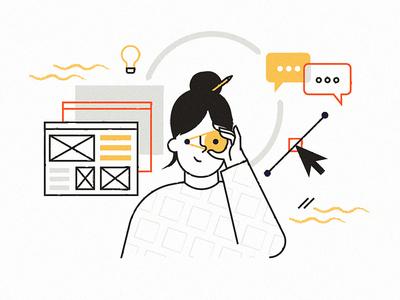 dead end concept unfinished scraps digital technology illustration