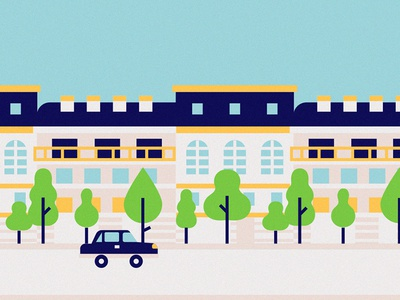 Boulevards street grands boulevards france paris travel city snapchat sticker filter illustration