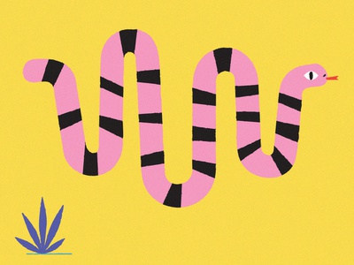 Snake Waves flyer wave sound snake digital character design vector illstrator
