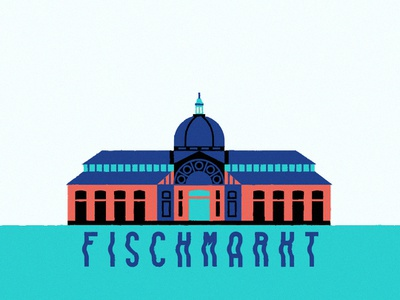 Hamburg Fischmarkt germany fischmarkt market tourism hamburg snapchat filter typography digital icon vector illustration