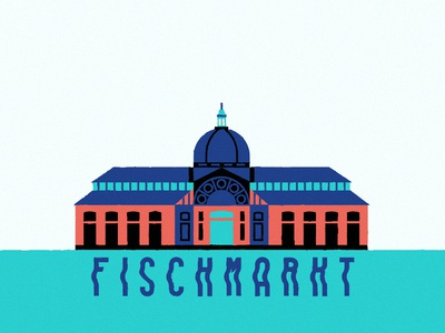Hamburg Fischmarkt germany fischmarkt market tourism hamburg snapchat filter typography digital icon vector illustration