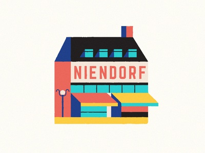 Niendorf neighborhood niendorf city hamburg market home snapchat filter vector illustration