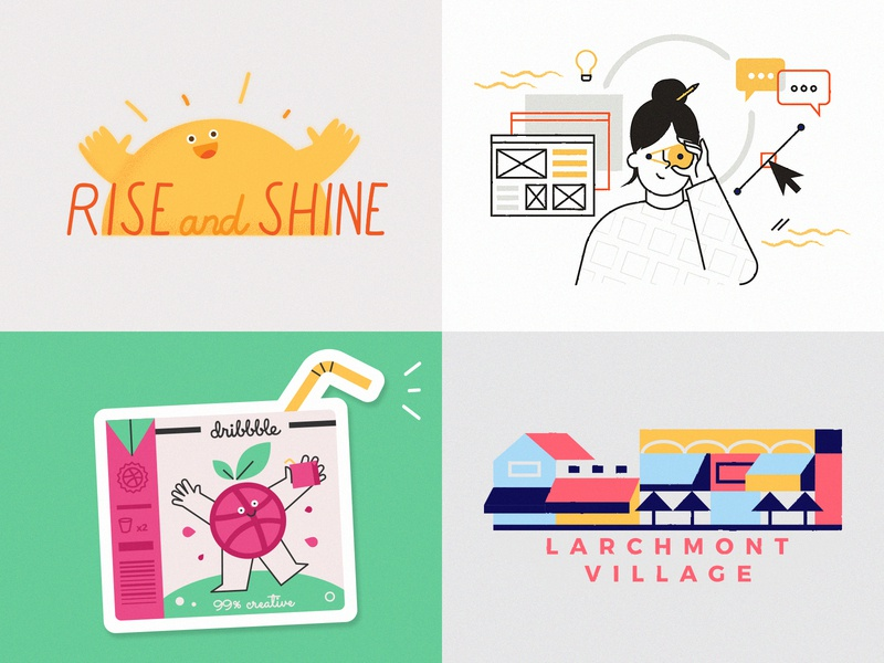 bye 2018 ᕕ( ᐛ )ᕗ losangeles dribbble girl city vector summer digital branding character illustration