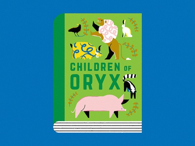 Children of Oryx margaretatwood genetics animals fanart cover book editorial character design illustration