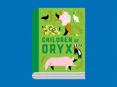 Children of Oryx margaretatwood genetics animals fanart cover book editorial character design illustration