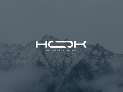 HOOK typography gadget adventure vector minimal logo branding design