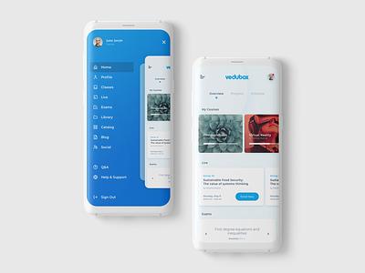 Vedubox Mobile UI mobile ui mobile app mobile app design lms mobile app ux ui design