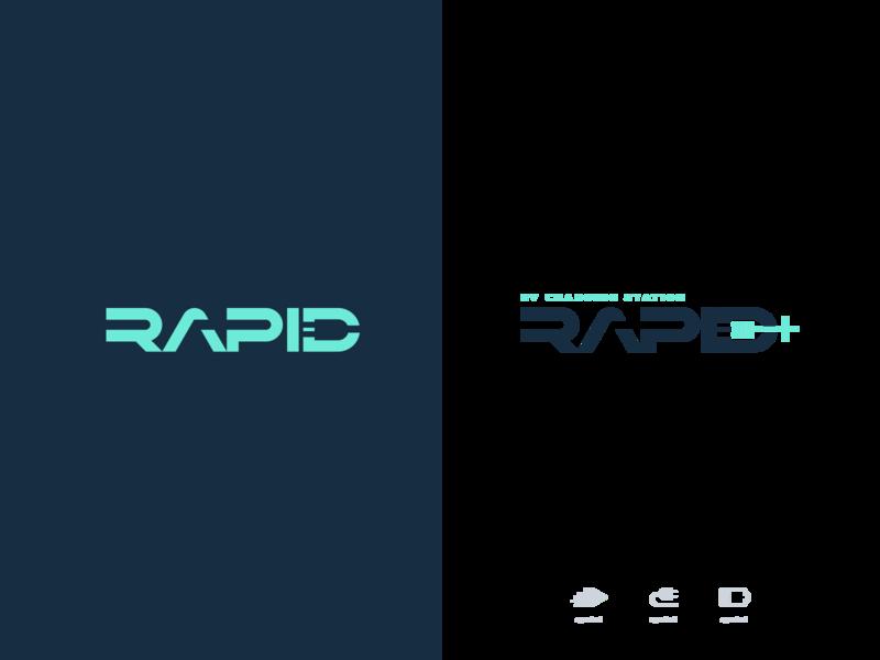 Rapid EV Charger App Logo logo branding design
