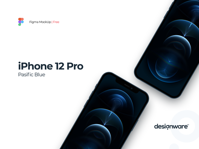 iPhone 12 Pro (Pasific Blue) | Free MockUp mobile figma iphone apple mockup illustration ux ui design
