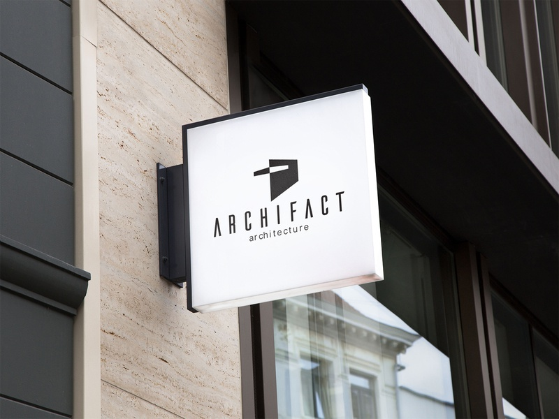 Archifact | Branding architecture logo minimal design branding