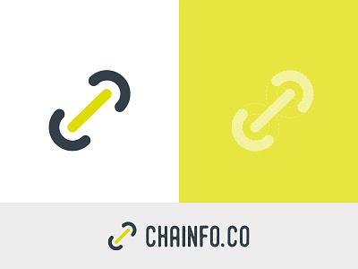 Chainfo.co | Branding blockchain technology minimal logo design branding