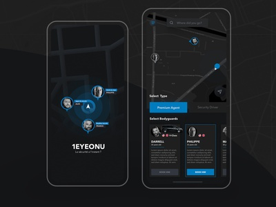 1EyeOnU — Security Service booking application app design taxi apple ux app illustration flat web ui design