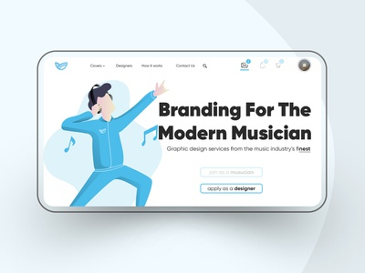 Re-design Concept for Melodynest ui illustration app minimal branding website design