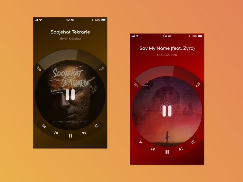 Music Player App music player ui music player app music player music dribbble ui