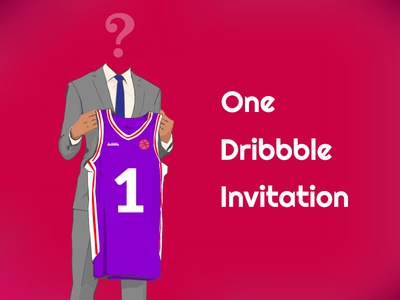 Dribbble Invite vector ball pink one draft basketball invitation invite dribbble dribbble invite