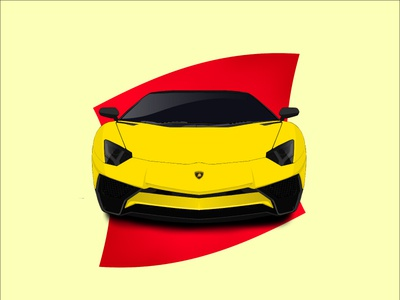 Lamborghini Aventador design illustrator vector yellow aventador