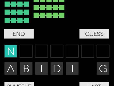 Anagram Word Game App WIP