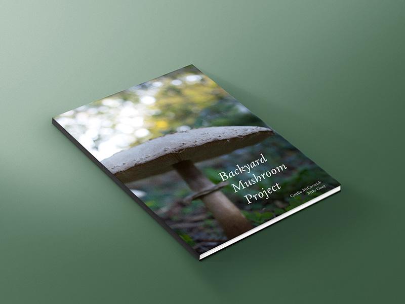 Cover mockup mushroom book