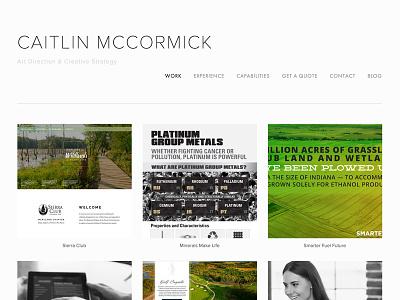 Portfolio Site Redesign portfolio web design website