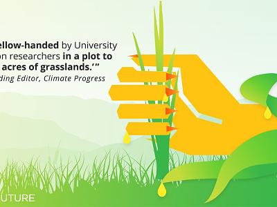 Corn caught yellow-handed hand ethanol facebook postcard vector campaign pr social media