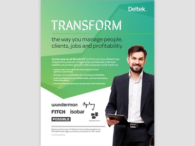 Deltek Print Ad layout print ad