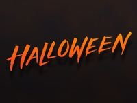 Halloween hand lettering