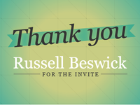Thank You Russell