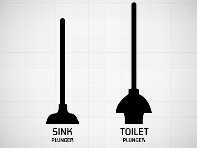 public service announcement plunger types by caitlin mccormick dribbble. Black Bedroom Furniture Sets. Home Design Ideas