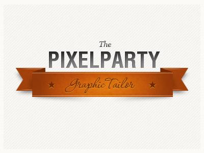 thepixelparty logo graphic typography
