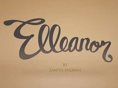Elleanor logo typography fashion calligraphy
