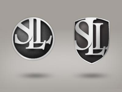 the shield typography vintage logo design creative studio interface