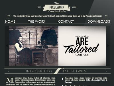 Neo Website typography vintage logo design creative studio interface