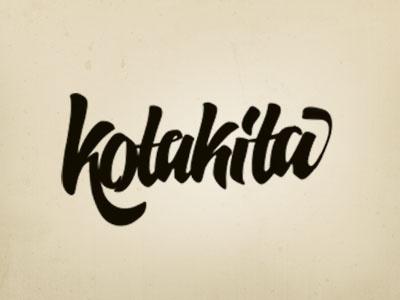 Kotakita logo typography