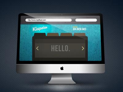 Hello. interface icon banner imac apple