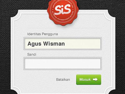 Login interface app website