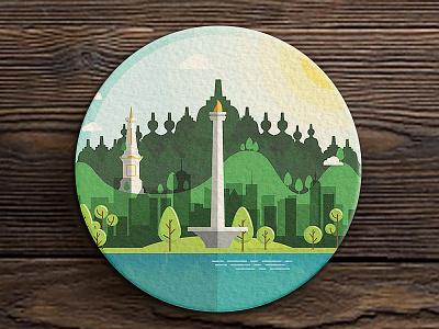 Jog—Jkrt Cstr free indonesia design stickermule jogjakarta jakarta coasters illustration graphic  design