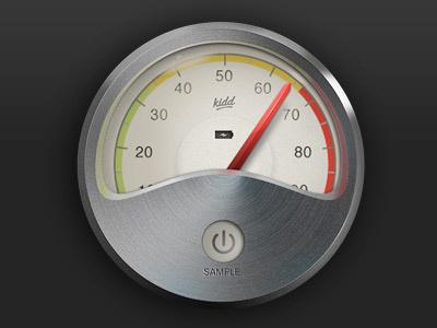 Gauge interface psd gauge iphone app ios ipad retinal