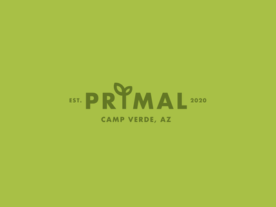 Primal Organics Logo arizona draw design vector logo illustration branding illustrator