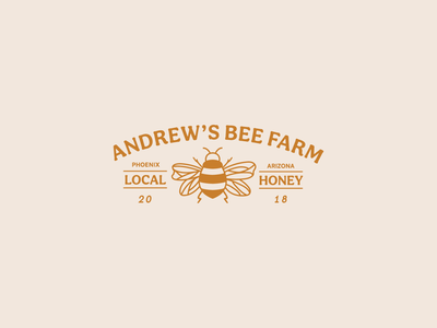 Honey Company Logo logodesign rebrand bee local honey honeybee vector arizona logo design branding illustrator