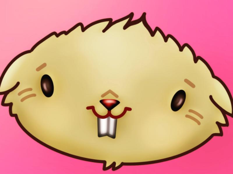 Hamster digital art procreate hamster illustration digital drawing