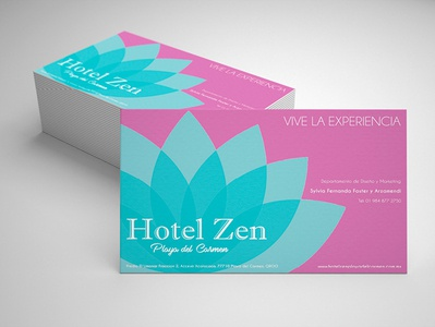 Logo Design for Hotel on Businesss cards logo card design business card stationery design logodesigner mockup businesscards graphicdesigner graphicdesign lotus zen hotel brandingdesign branding logodesign logo