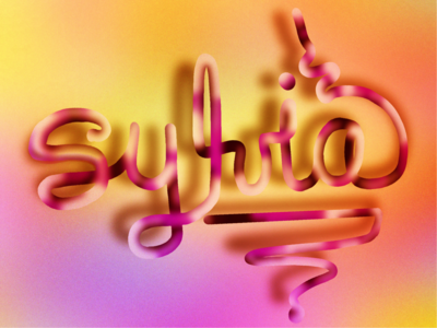 3D lettering of my name
