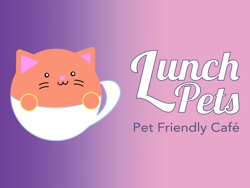 Logo and Branding for a pet friendly cafe cafeteria graphic design adobe illustrator café cat logo pet pet care logotype branding identity branding design logo design logo