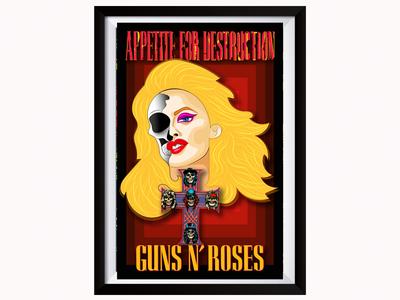 Guns N Roses poster design