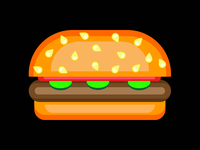 Burger vector art