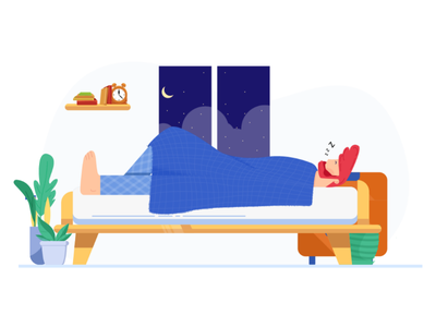 Sleep well vector sketch night sleep art illustrations