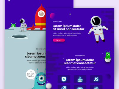 space themed web design