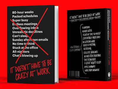 """It Doesn't Have to Be Crazy at Work"" cover lettering book"
